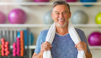 middle age man working out