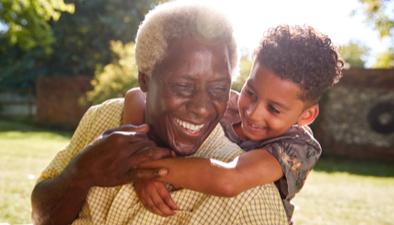 senior man and his grandson