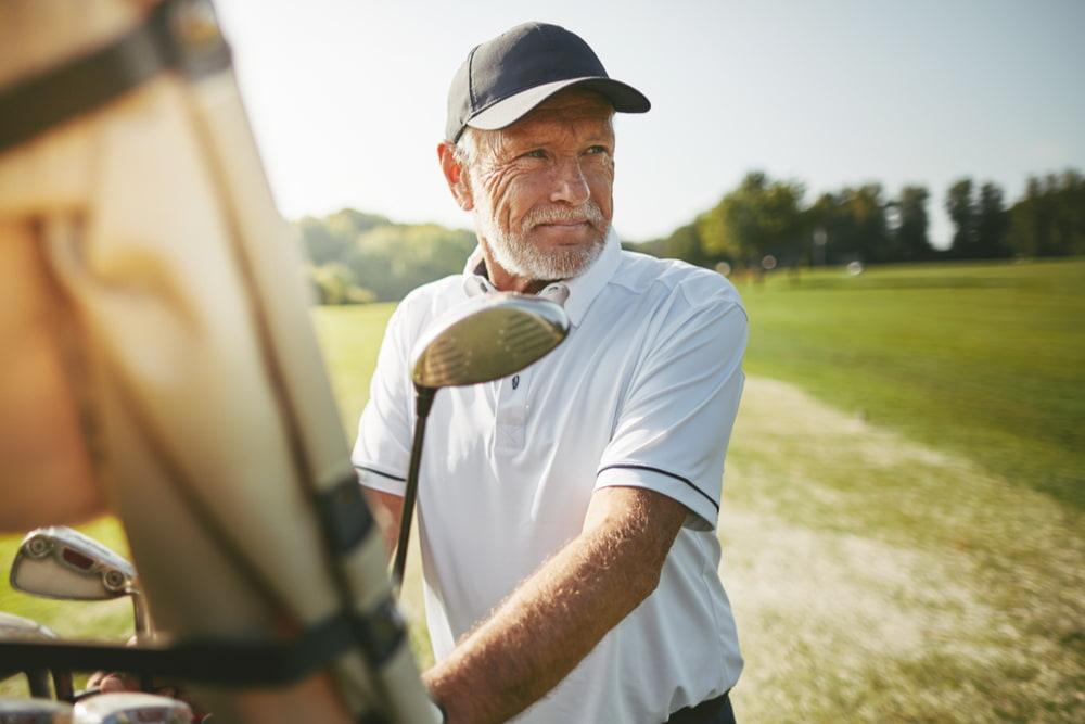 senior man on the golf course